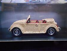VW Volkswagen Käfer Beetle Cabrio KORB beige offen Resin Pro R Schuco 1:43