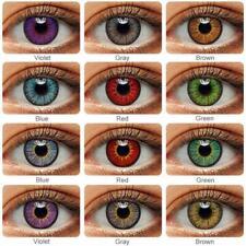 2pcs/Pair Colorful Color IYE eye Eyes Lenses Eye Yearly For Dark eyes case Lens2