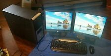 "System Win 10 64 4gb ram Core 2 Duo E6750 2.66  17"" monitor DVDr +r RW Intel M"