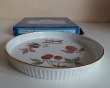 Royal worcester porcelaine Evesham Gold flan quiche Dish Spritz Plateau 18 cm