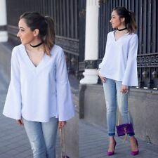 Zara Cotton Blouses Striped Tops & Shirts for Women