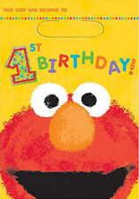 Sesame Street 1st birthday PARTY LOOT BAGS  first  party supplies ELMO 8pc favor