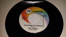 """BOB MOORE Kentucky / The Flowers Of Florence MONUMENT 814 45 7"""" VINYL RECORD"""