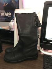 Women's A.n.a Black Leather Knee Boots with Tassels Size 8
