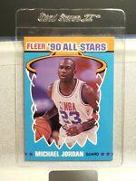 1990-91 Fleer Basketball ALL-STARS MICHAEL JORDAN #5 of 12  - Amazing Condition!