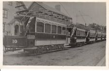 Old Photograph of several Dover Trams in Cherry Tree Avenue with No. 10 at head