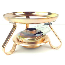 GLAMPING CAMPING STEAMPUNK RESTAURANT TABLE FEATURE PORTABLE SWISS COPPER STOVE