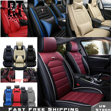 5 Seats Universal Fit Car Seat Covers Deluxe PU Leather Full Set W/ Pillow  14pc
