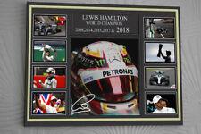 Lewis Hamilton F1 Mercedes 2018 WORLD CHAMPION TRIBUTE A3 CLIP GLASS FRAME