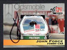 John Force #117 signed autograph auto 1992 Pro Set NHRA Trading Card