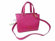 Authentic Longchamp Leather 2Ways Shoulder Hand Bag Pink Unused M399