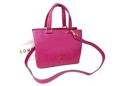 Authentic Longchamp Leather 2Ways Shoulder Hand Bag Pink Unused M399