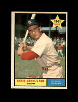 1961 Topps Baseball #118 Chris Cannizzaro RC (Cardinals) NM