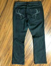 Baby Phat Jeans Size 11 Juniors Women Stretch Denim Blue Boot Cut Straight