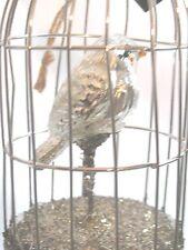 """Wire Birdcage w/ Mercury Glass bird Ornament 7.5"""" Bethany Lowe Xmas Spring"""