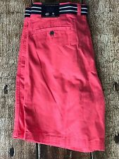 Club Room Mens Flat-Front Shorts With Belt Heirloom Rose Mens 36