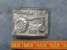 Vintage CASE 500 Tractor Belt Buckle 1953 Limited Edition SC Spec Cast SILVER