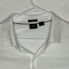 Hugo Boss Mens Designer Polo SS White 2XL