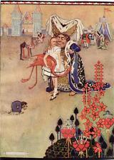 Original Ex Libris Alice In Wonderland-Rosa Flamingo Ilus Gwynedd Hudson 1922