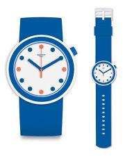 Swatch POP popiness Watch pnw103 Analogue Silicone Dark Blue
