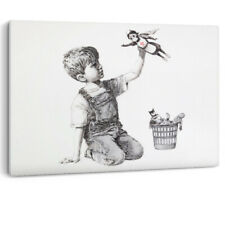 Banksy Game Changer NHS Nurse Super Hero Health Canvas Wall Art Picture Print A0