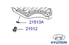 Genuine Hyundai i10 Sump Plug and Washer - 2151223001
