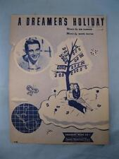 A Dreamers Holiday Sheet Music Vintage 1949 Perry Como Mabel Wayne Kim Gannon O