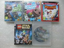 Kids PS3 Games Little Big Planet 1 & 2,Rayman,LEGO Star Wars PS3,Ratchet & Clank