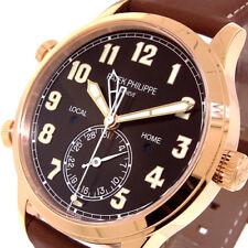 PATEK PHILIPPE 5524R CALATRAVA PILOT TRAVEL TIME ROSE GOLD BROWN DIAL 5524R-001