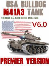 1/16 2.4G RC Henglong Smoke&Sound USA M41A3 Bulldog Tank Premier Version V6.0