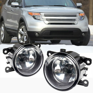 For Ford Explorer 2011-2015 Clear Lens Pair Bumper Fog Light Lamp OE Replacement