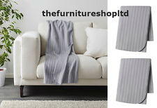 NEW 2 x IKEA VITMOSSA Grey Fleece Sofa Throws 120x160cm