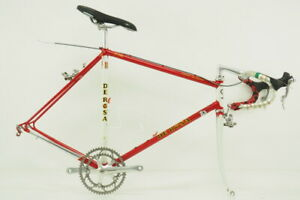 Vintage! De Rosa Nuovo Classico Road Bicycle Size 56cm Columbus TSX CrMo Red/Wht
