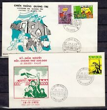 VIETNAM 1973  2  FDC COVERS first day premier jour