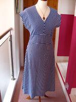 BNWT NEW RRP£47 Ladies DASH blue white stretch a-line DRESS size UK 12