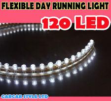Car White 120 LED Flexible Day Running  Light DRL Strip 120cm 12V Waterproof
