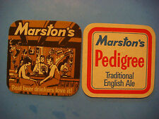 Beer Coaster ~ MARSTON'S Real Ale Mat No. 3 ~ Brewed in Burton on Trent, ENGLAND
