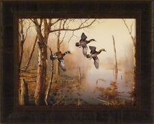 BACKWATER by Jim Hansel 17x21 Wood Ducks Woodducks FRAMED PRINT PICTURE