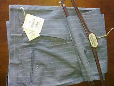 Pantaloni uomo sartoriali,grigio chiaro gessato,lana,Tg.48 drop 6,molto eleganti