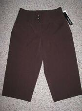 NWT FASHION BUG WOMEN'S CROP BROWN PANTS 6