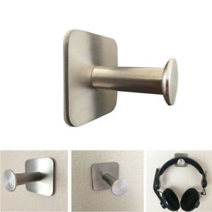Headphone Stand Hanger Hook Tape Stainless Steel Under Desk Headset Mount Holder