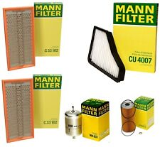 Mann Oil Paper Cabin Fuel Two Air Filter Service Kit for Benz W140 400SE S500
