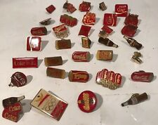 Vintage (34)Coca Cola Pins Advertising Bottles Cans Olympics Mixed Lot