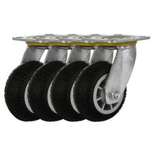4 Pack 6 Heavy Duty Caster Wheel Black No Brake Rought All Terrain Casters
