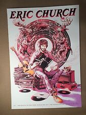 Eric Church 2017 Poster Variant Broken Record Red Miles Tsang Air Canada Centre