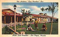Linen Postcard Gay Nineties Bar @ Hotel Last Frontier in Las Vegas Nevada~108592