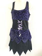"""On the Hunt""  Purple & Black Cave Woman Halloween Cosplay Costume Juniors S"