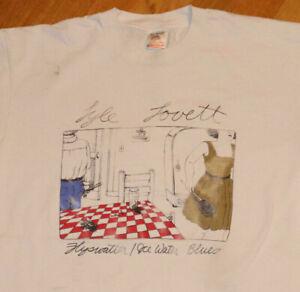 *1992 LYLE LOVETT* vtg rock concert tour band tee t-shirt (XL) 80's 90's Texas