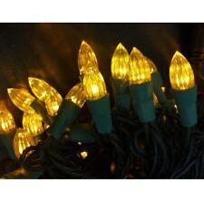 Gelbe LED Lichterkette für innen Tannenbaum 50 Lampen LED Weihnachtsbeleuchtung