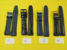 1 x ORIGINAL Swatch Leder Armband 17mm blau zur AUSWAHL Funk Mazzolino Diamonds